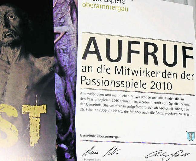 Haar- und Barterlass Passionsspiele Oberammergau